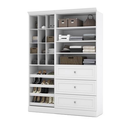 Bestar Furniture Versatile 408511417 Wardrobe White, Image 1