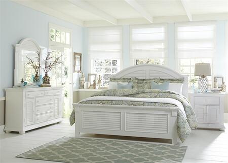 Liberty Furniture Summer House I 607BRQPBDMN Bedroom Set White, Main Image