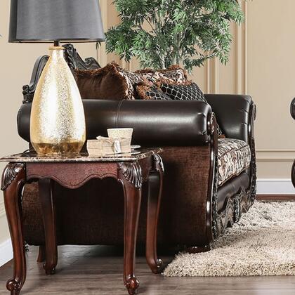 Furniture of America Jamael SM6405LV Loveseat Brown, Main Image