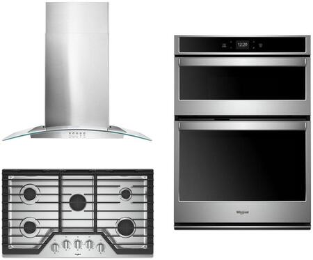 Whirlpool  1135464 Kitchen Appliance Package Stainless Steel, main image