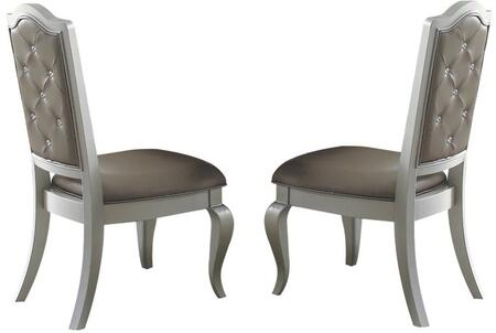 Acme Furniture Francesca 62082 Dining Room Chair Silver, Side Chairs