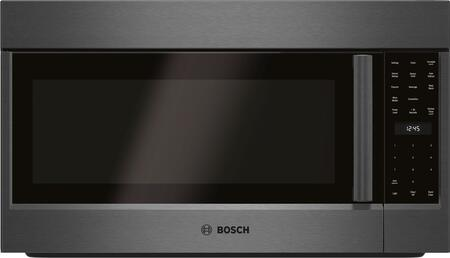 Bosch 800 Series HMV8044U Over The Range Microwave Black Stainless Steel, Main Image
