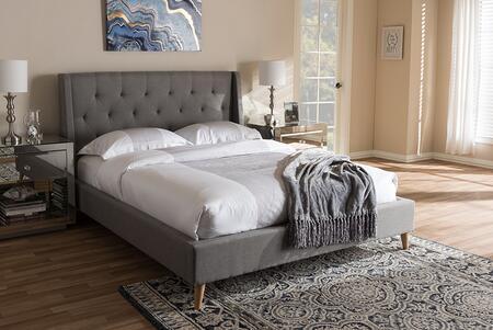 Baxton Studio Adelaide CF8862LIGHTGREYQUEEN Bed Gray, CF8862 Light%20Grey Queen 6
