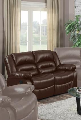 Myco Furniture Branson 1037LBR Loveseat Brown, Loveseat
