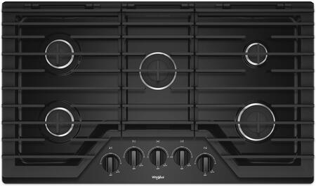 Whirlpool WCG55US6HB Gas Cooktop Black, Main Image