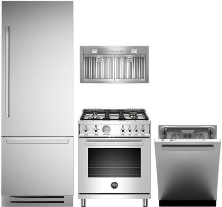 Bertazzoni  1054898 Kitchen Appliance Package Stainless Steel, main image