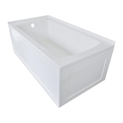 Valley Acrylic Signature Collection OVO60302SSKLWHT Bath Tub White, Main Image