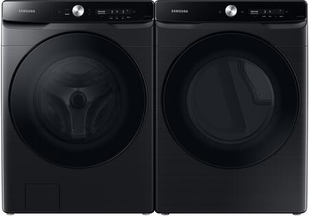 Samsung  1396922 Washer & Dryer Set Black Stainless Steel, 1