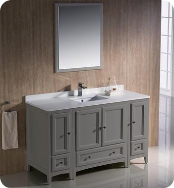 Oxford Collection FVN20-123012GR 54″ Grey Traditional Bathroom
