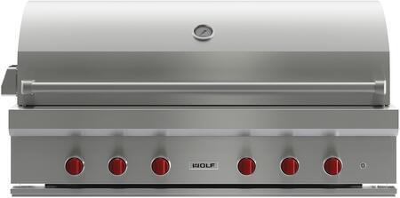 Wolf OG54 Natural Gas Grill Stainless Steel, Front View