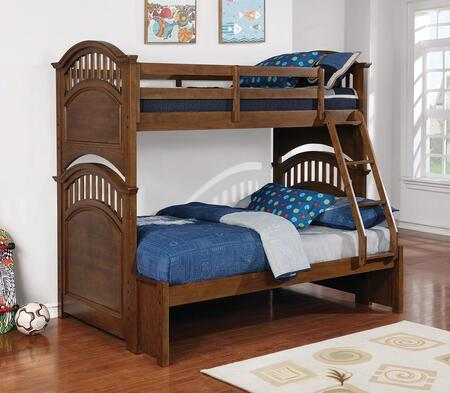 Coaster Halsted Twin Over Full Size Bed 461080 Walnut Appliances Connection