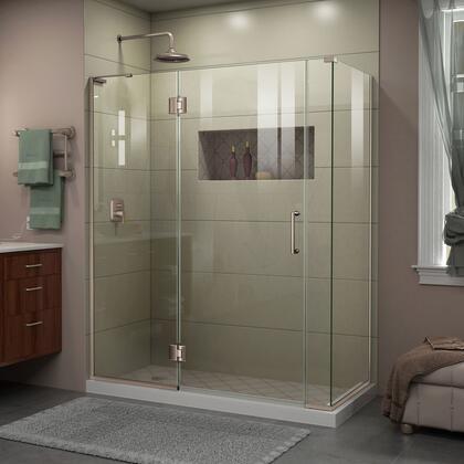 DreamLine  E32906534R04 Shower Enclosure , Unidoor X Shower Enclosure 24HP 30D 6IP 30RP 04