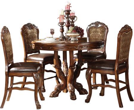 Acme Furniture Dresden 12160CH Bar Table Set Brown, Bar Table Set