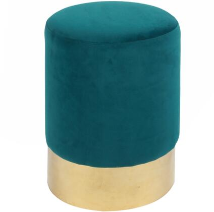 New Pacific Direct Oliver 3500004121 Living Room Ottoman Green, 3500004-121-Main View