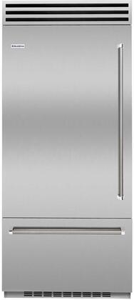 BlueStar  BBB36L2PLT Bottom Freezer Refrigerator Stainless Steel, BBB36L2PLT Bottom Freezer Refrigerator