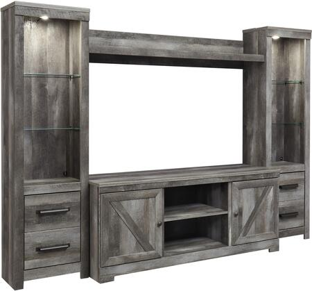 Signature Design by Ashley Wynnlow W440ENTSET Entertainment Center Gray, W440 68 24(2) 27 SW