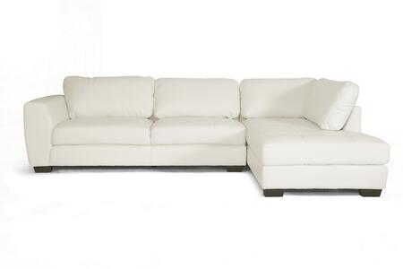 Wholesale Interiors Orland IDS023WHITERFC Sectional Sofa White, IDS023-WHITE-RFC Front