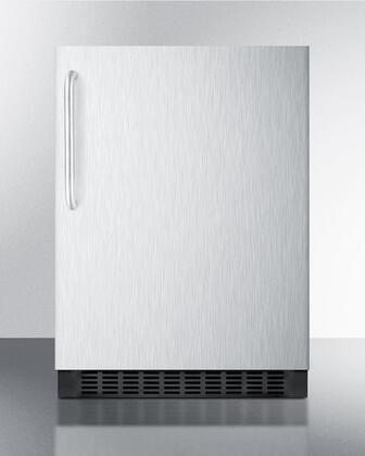 Summit  FF64BXCSSTB Compact Refrigerator Stainless Steel, 1