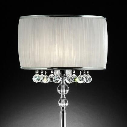 Benzara Chloe BM122811 Table Lamp Silver, BM122811