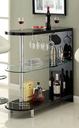 Furniture of America Numbi CMBT8333BK Bar Black, Main Image