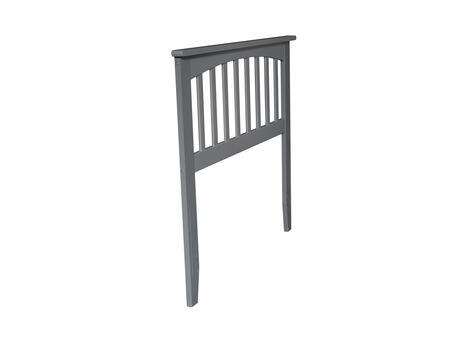 Atlantic Furniture Mission AR287829 Headboard Gray, AR287829 SILO 30