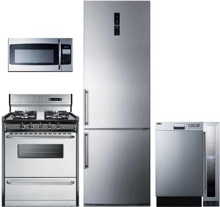 Summit  1113441 Kitchen Appliance Package Stainless Steel, Main image