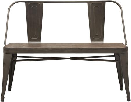 """Panda_Collection_PANDABERT_40""""_Dining_Bench_with_Bamboo_Top_and__Finished_Metal_Frame__in_Rust"""