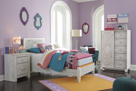 Signature Design by Ashley Paxberry B1815352CN Bedroom Set White, B1815352CN Main View