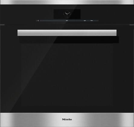 Miele M Touch H68802BP Single Wall Oven Stainless Steel, Main Image