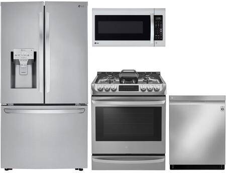 LG  1072347 Kitchen Appliance Package Stainless Steel, main image