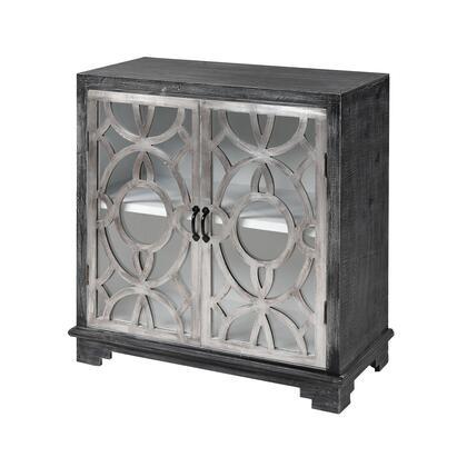 17282 Viva Cabinet  in Dark Grey Fir Wood  Antique German