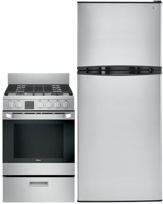Haier  999743 Kitchen Appliance Package Stainless Steel, Main Image