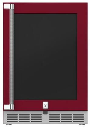 Hestan  GRWGR24BG Compact Refrigerator Red, Main Image