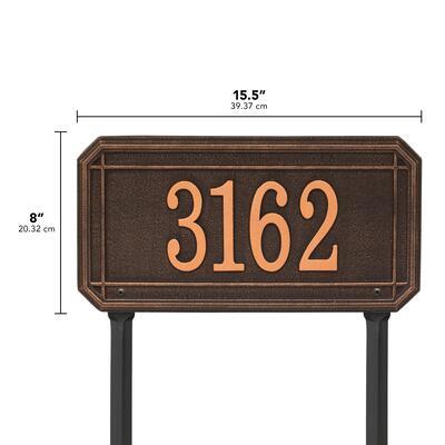Whitehall Products Allenton 2341OB Address Plaques Brown, 2341OB DIM