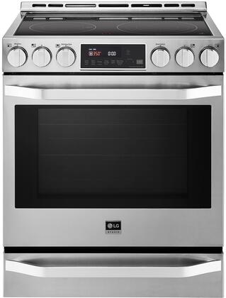 LG Studio LSSE3027ST Slide-In Electric Range Stainless Steel, 1
