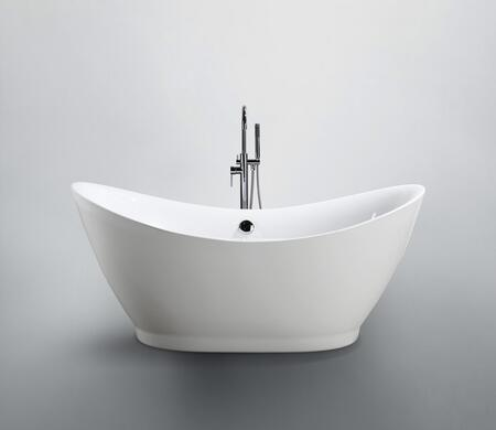 Bellaterra Home Salerno BA6514 Bath Tub White, Main image