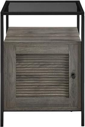 AF18DEW1DSG 18″ Fluted Door End Table – Slate