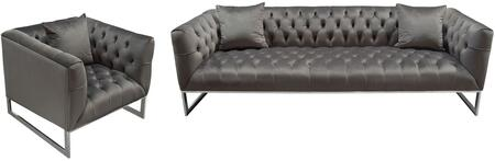 Diamond Sofa Crawford CRAWFORDSCDG Living Room Set Gray, Main Image
