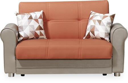 Casamode Avalon Plus AVALONPLUSLOVESEATPRUSAORANGE Loveseat Orange, Main Image