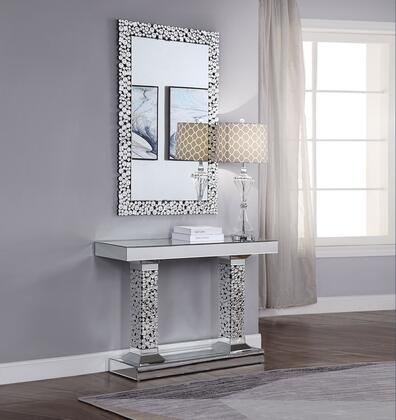 Acme Furniture Kachina 90446CM Console Silver, Console Table and Mirror