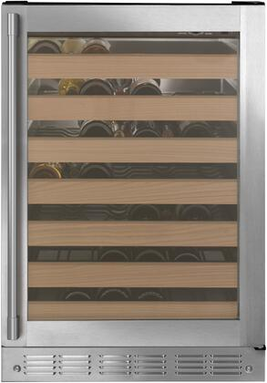 Monogram  ZDWR240NBS Wine Cooler 51-75 Bottles Stainless Steel, ZDWR240NBS Shown with Statement Handle