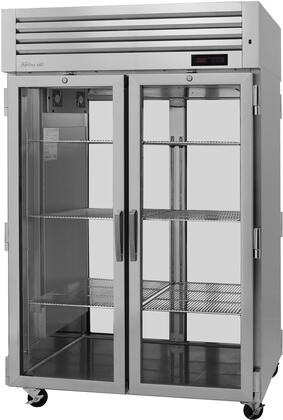 PRO-50H-G-PT 52″ Pro Series Glass Door Pass-Thru Heated Cabinet with 48.7 cu. ft. Capacity  Digital Temperature Control & Monitor System  Ducted Fan