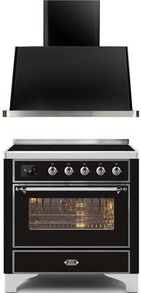 Ilve  1260296 Kitchen Appliance Package Black, Main image