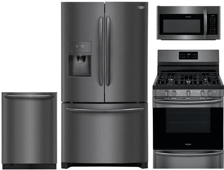 Frigidaire 974702 Kitchen Appliance Package & Bundle Black Stainless Steel, Main image