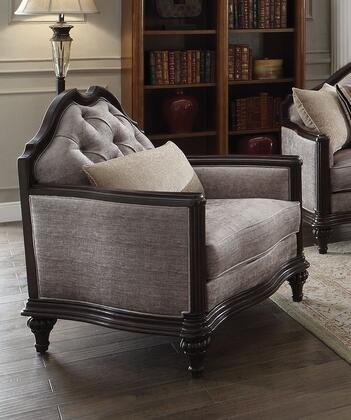 Acme Furniture Azis 53772 Living Room Chair Gray, 1