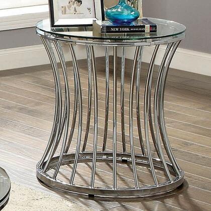 Furniture of America Esme CM4172EPK End Table Silver, Main Image