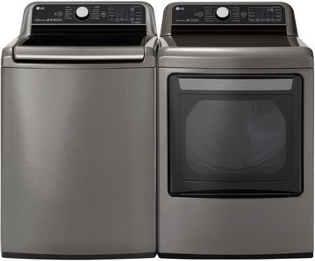 LG  1042601 Washer & Dryer Set Graphite Steel, 1