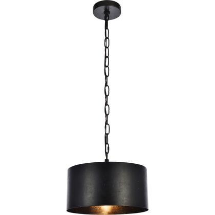 LD6015D15BK Miro 1 Light 15 inch Vintage Black Pendant Ceiling