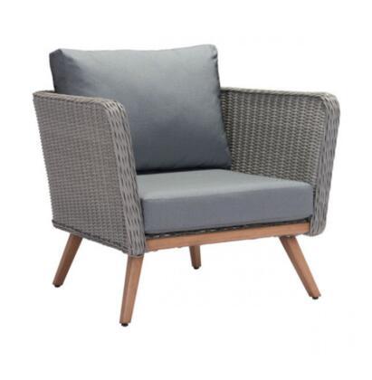 Zuo Monaco 703912 Patio Chair Gray, 703912 Front