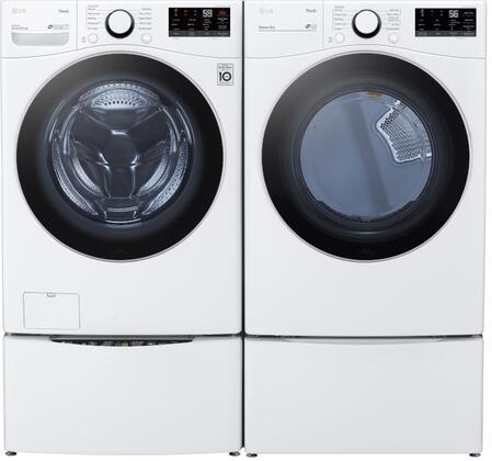 LG  1289281 Washer & Dryer Set White, 1